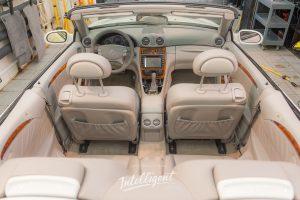 Mercedes кабриолет покраска кожи, химчистка.